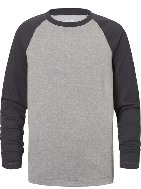 Craghoppers NosiLife Barnaby - Camiseta de manga larga Niños - gris/negro